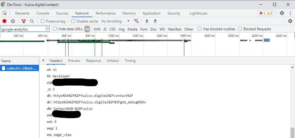 Chrome dev tools traffic type